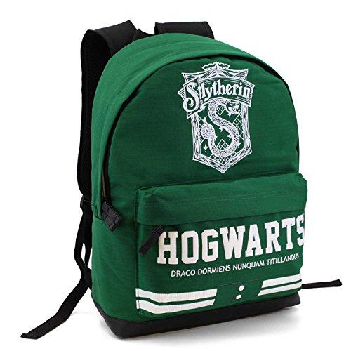 Mochila, modelo Hogwarts Slytherin, color verde