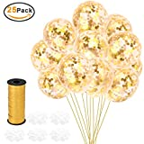 Artoper 25 Stück Gold Konfetti Ballons