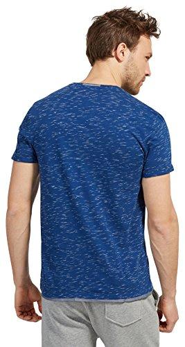Tom Tailor für Männer T-Shirt T-Shirt in Melange-Optik after dark blue