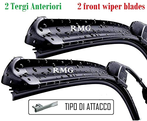 RMG Coppia 2 spazzole tergicristallo anteriori per V50 Prodotta dal anno 2004 al 2012 Misure spazzole 65 e 50 cm