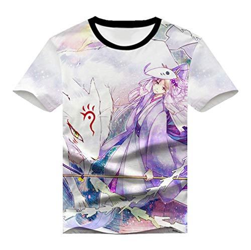 Cosstars Natsume Yuujinchou Anime T-Shirt Cosplay Kostüm 3D Druck Sommer Kurzarm Tee Tops 10 S (Sensei Kostüm Kind)