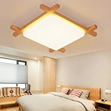 Nordic Kurze Moderne Holz Deckenleuchte Wohnzimmer Schlafzimmer Balkon Massivholz Lampen Grosse 60cm Warmes Licht