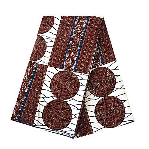 6Meter afrikanischen Wachs Prints Stoff Super Wachs Hollandais Dutch 100% Baumwolle Stoffe Material Dashiki Batik Echt Floral für Kleid l 1