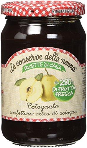 Le Conserve della Nonna Confettura di Mele Cotonge Cotognata Ottenuta da Frutta Fresca e Zucchero di Canna - 350 gr - [confezione da 4]