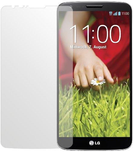 dipos I 2X Schutzfolie matt passend für LG G2 Folie Bildschirmschutzfolie