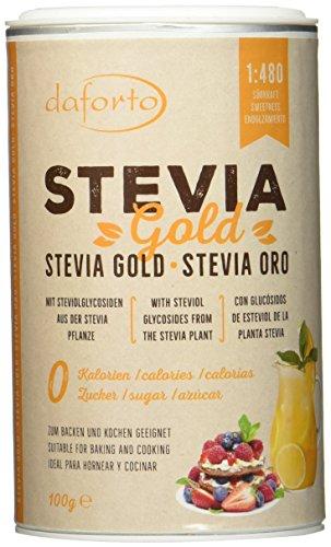 Stevia Plus, Süßstoff (Daforto Stevia Gold, 1er Pack (1 x 100 g))