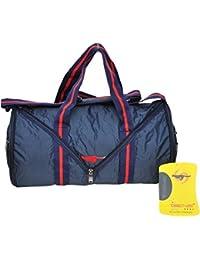CP Bigbasket Foldable Duffel Gym Bag Travel Bag (Blue, 30L)