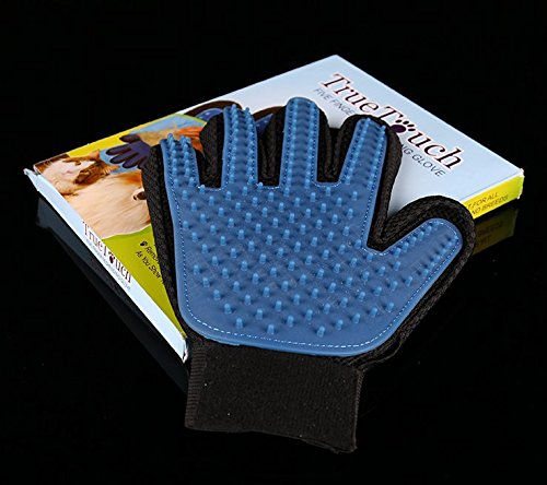 True Touch 2-In-1 Pet Glove Deshedding Glove Grooming Tool, Pet Hair Remover Mitt - For Cat & Dog- Gentle Deshedding Brush 6
