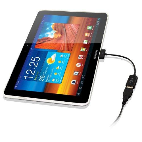 KanaaN Samsung Galaxy Tab USB - OTG Adapter mit Host-Modus - Galaxy Tab USB Female Kabel - für Galaxy Tab 7 Plus 7.7 8.9 10.1 10.1N Galaxy Tab 2 10.1 P5100 P5110, Galaxy Tab 2 7.0 P3100