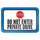 Graphics and More 22,9 x 15,2 cm, motivo: 'Do Not Enter' di Private Drive 'Targa in metallo