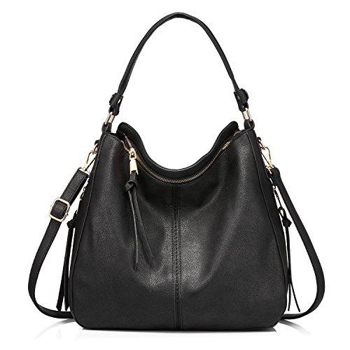 - 519dz7P 2BA5L - Leather Handbags for Women Shoulder bag Cross Body Bag Designer Handbags Large Tote Bag Hobos Bag with tassel