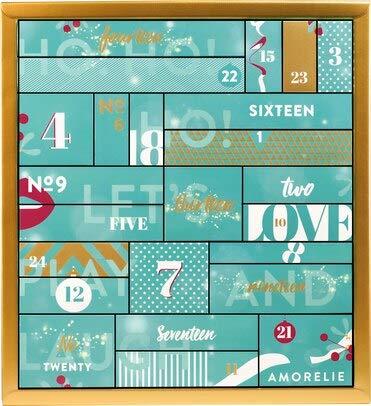 AMORELIE Erotischer Paar Adventskalender EXKLUSIV EDITION, 24 aufregend sinnliche Sex Geschenke, Erotik Advent Kalender im Wert von 450 €, im großen Kastenformat mit Boxen - 37 x 39 x 9cm
