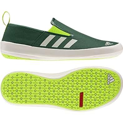 Adidas Men's Boat Slip On Dlx Boat Shoes - Amazon Green/ Chalk/ Solar Slime 9, Uk Size -8