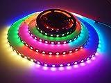 WS2813 Pixel RGB LED Streifen, 16.4FT / 5M 300 LED WS2813-C Individuell Adressierbar LED Streifen Licht, 60Leds/M 5050 RGB SMD Digitale Flexible LED Streifen, LED Leiste, DC 5V Nicht Wasserfest (Schwarze PCB)