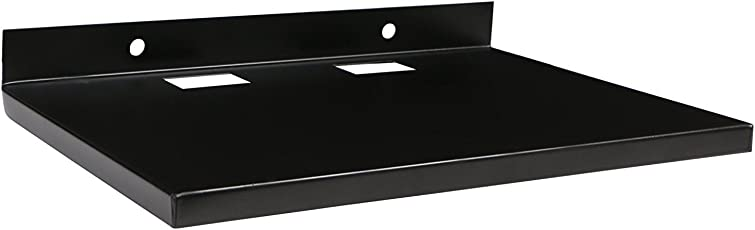 Ibs Stylish Set Top Box Multi Purpose Metal Wall Mount Stand For Set Top Box Color -Black.