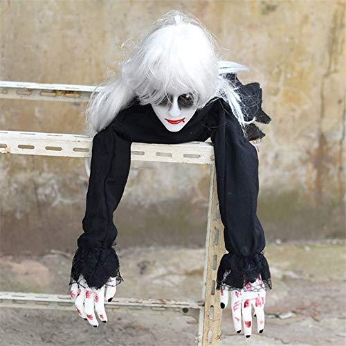 Hei Den Kostüm Sensenmann Schwarzen - WSCOLL Scary Halloween Female Ghost Decor Langes Haar Gefangener Ghost Horror Halloween Kriechender Geist Sensenmann Bar Haunted ArrangementHEI se