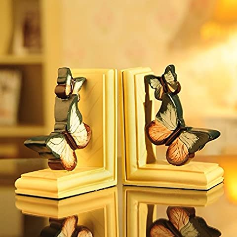 ZPSPZ Home Dekoration Wohnzimmer Amerikanische Study The Living Room Home Furnishing Office Desktop Butterfly Book Bookend Bookends Ornaments 12.5*7.5*15.5