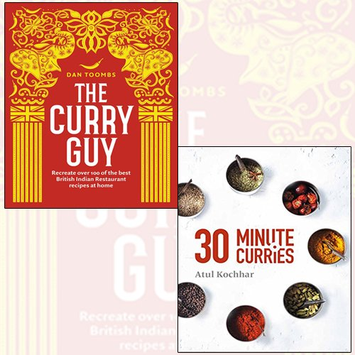 the curry guy,30 minute curries 2 books collection set - recreate over 100 of the best british indian restaurant recipes at home