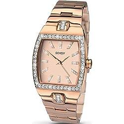 Seksy Intense Rose Gold Dial Rose Gold Stainless Steel Bracelet Ladies Watch 2081