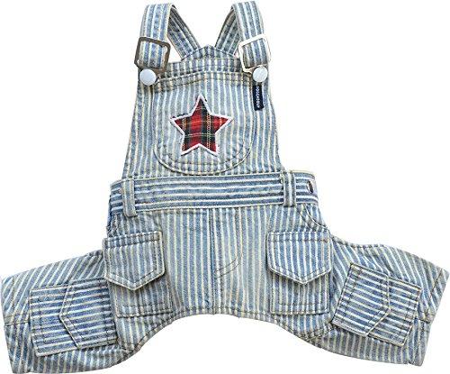 Doggy Dolly dc039Peto Star para perros, diseño de rayas, color azul y...