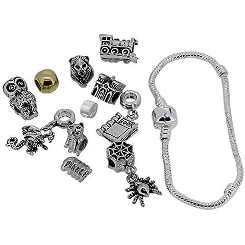 Set di ciondoli assortiti a tema Halloween per braccialetti in stile Pandora Chamilia Troll