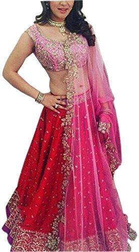 ClassyFashion womens Silk Pink Lehenga_Free Size_PinkLehClassy01