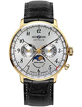 Zeppelin Unisex-Armbanduhr Chronograph Quarz Leder 7038-1