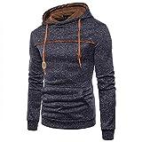 Yisaesa Jacquard-Pullover Fleece-Strickjacke Herren Sweatjacke Kapuzenjacke Hoodie Mit Kapuze Und Fleece-Innenseite (Farbe : Schwarz, Größe : M)