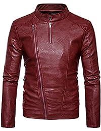 free shipping 34925 9416d Amazon.it: giubbotto ecopelle uomo - Rosso / Uomo: Abbigliamento