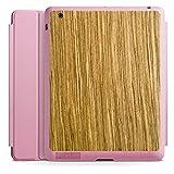 DeinDesign Apple iPad 2 Smart Case rosa Hülle mit Ständer Schutzhülle Holz Look Eichenholz Maserung
