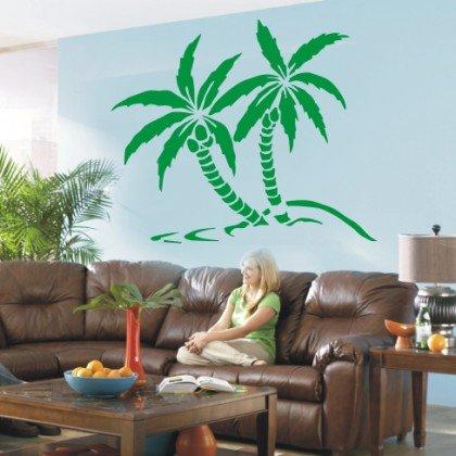 WANDTATTOO / Wandsticker w430 Palme Baum Pflanze Wandaufkleber 80x67cm, gruen