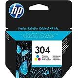 HP 304 Tricromia (N9K05AE) Cartuccia Originale per Stampanti HP a Getto di Inchiostro, Compatibile con Stampanti HP DeskJet 2