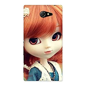 Gorgeous Tiny Baby Girl Multicolor Back Case Cover for Sony Xperia M2