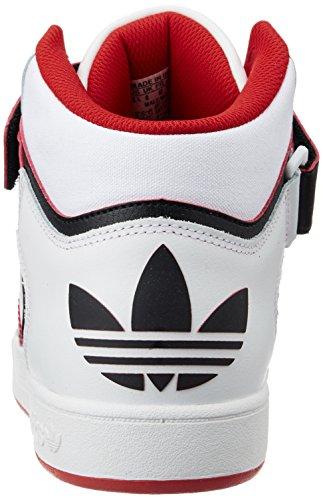 adidas Varial Mid, Scarpe da Skateboard Uomo Bianco / Nero / Rosso (Ftwbla / Negbas / Escarl)