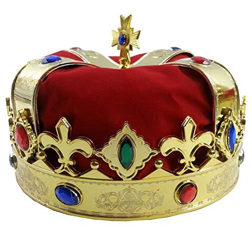 (JIFNCR King Queens Crown Kostüm für Kostümparty Zubehör)