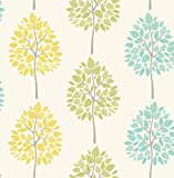 BHF FD41592 Riva Tree Wallpaper - Green/Teal (2-Piece)