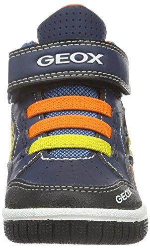 Geox Jungen Jr Gregg A High-Top Blau (Navy/Orangec0659)