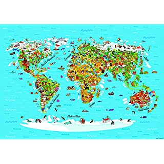 AG DESIGN Map Giant Wall Poster, Paper Multi-Colour, 410 x 254 cm