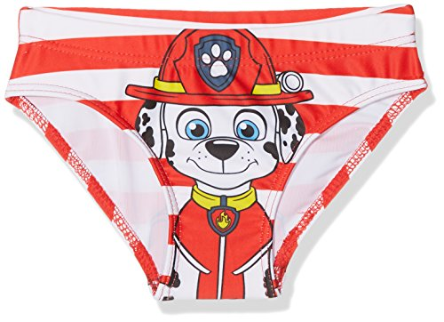 Pat patrouille Jungen Chase Badeanzug, Rot (RED 255), 4 Jahre Red Pat 4