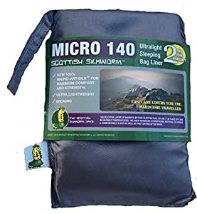 Micro - Art Silk Sleeping Bag Liner (Slate)