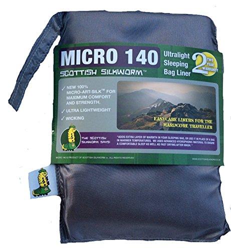 Micro - Art Silk Sleeping Bag Liner (Slate)