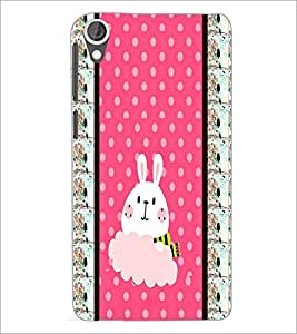 PrintDhaba Bunny D-3821 Back Case Cover for HTC DESIRE 820 (Multi-Coloured)