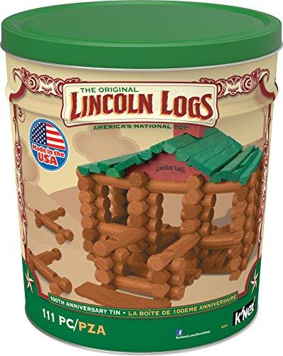 K'Nex Lincoln Logs - Juego de estaño para 100 Aniversario