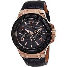Guess W0040G5 - Reloj con correa de piel para hombre, color marrón