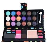 Lidschatten-Palette,Challeng Lidschatten Bilden Pulver Lipgloss Kosmetik Makeup Augenschatten Palette/26 Farben (Schwarz)