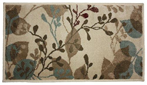 J & M Home Fashions Hula Blumen Woven Bereich Teppich, 23 by 36-Inch - Elfenbein Blumen-bereich Teppich
