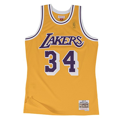 Mitchell & Ness L.A. Lakers 34Shaquille O'Neal swingman Rétro Maillot en jersey, jaune