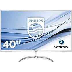 "Philips BDM4037UW/00 Moniteur 101cm (40"") (VGA, 2x HDMI, 2x DisplayPort, 4x USB 3.0, 3840x 2160, 60Hz, 4ms, incurvé) Argenté"