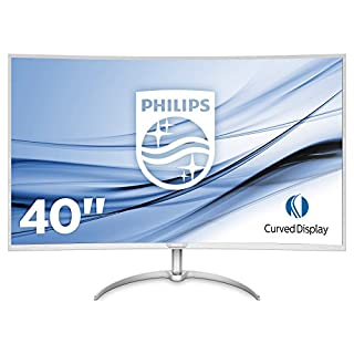 "Philips BDM4037UW/00 Moniteur 101 cm (40 "") (VGA, 2 x HDMI, 2 x DisplayPort, 4 x USB 3.0, 3840 x 2160, 60 Hz, 4 ms, incurvé) Argenté (B01MSYXDC7) 