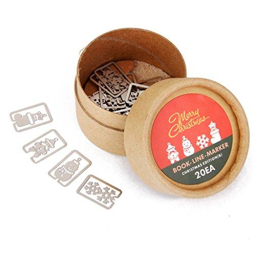 Lesezeichen Souvenirs Feld Linienmarkierung Mit Box Weihnachten (Weihnachts-lesezeichen)